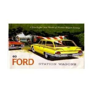 1960 FORD STATION WAGON Sales Brochure Literature Book