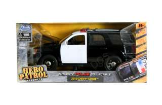 JADA 2010 CHEVY TAHOE POLICE CAR BLACK / WHITE 1/24 DIECAST CAR