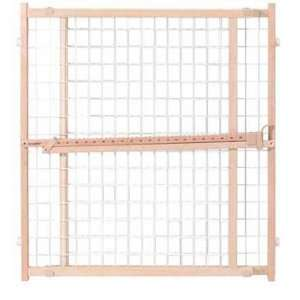 Evenflo Position & Lock Plus Gate, Clear Wood/White Mesh