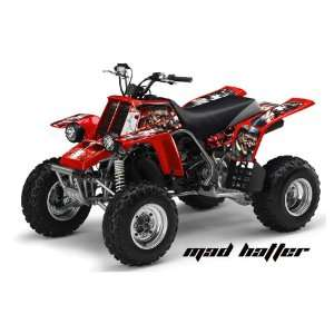 AMR Racing Yamaha Banshee 350 ATV Quad Graphic Kit   Madhatter Red
