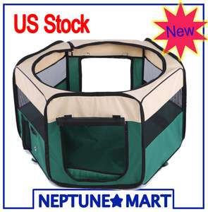 35 GREEN Pet Playpen Dog Puppy Soft Exercise Kennel Crate Cage M PC03