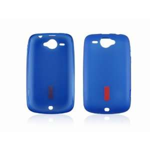 New Blue Soft TPU Gel Case Cover Shell for HTC Wildfire