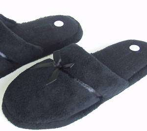 Womens Slippers Fluff Scuff Indoor Outdoor Sole Black