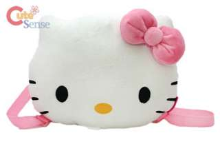 Sanrio Hello Kitty Face Plush Bag Backpack Pink Bow 13