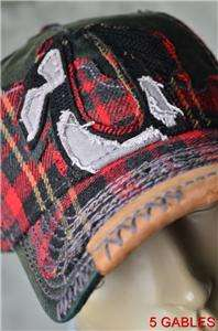 NWT TRUE RELIGION T R Jeans Mens Destroyed HORSESHOE Hat Baseball Cap
