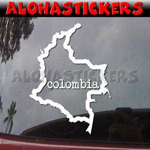 COLOMBIA COUNTRY OUTLINE Vinyl Decal Car Sticker Q130