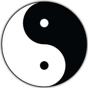 Yin Yang Taijitu car bumper sticker decal 4 x 4