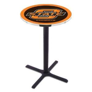 State Counter Height Pub Table   Cross Legs   NCAA