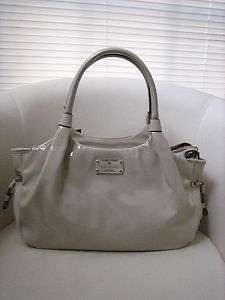 Flicker Stevie Patent Leather Bag Purse Doe Ivory PXRU3095 NWT $395