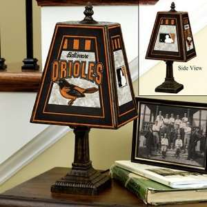 Baltimore Orioles Art Glass Table Lamp