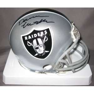 Darren McFadden Oakland Raiders NFL Hand Signed Mini Football Helmet