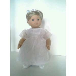 White Christening Dress for American Girl Bitty Twins Toys & Games