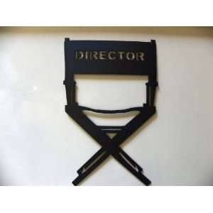 Home Theater Decor Directors Chair Metal Wall Art