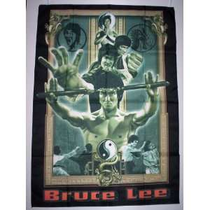 BRUCE LEE 5x3 Feet Cloth Textile Fabric Poster