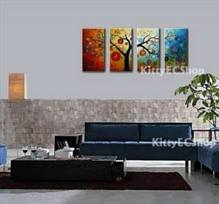 Art Oil Canvas Money Tree New Painting Modern Abstract 4pcs Handmade