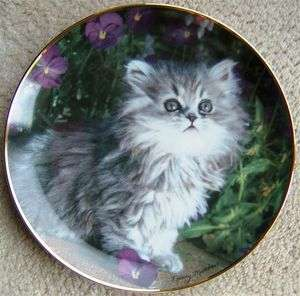 Vintage CAT Franklin Mint Plate PURRFECTION by Nancy Matthews