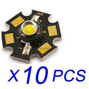 10 pcs New 3W High Power white Led Lamp Prolight Star