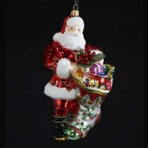 Holiday Stocking Polonaise Christmas Ornament 7