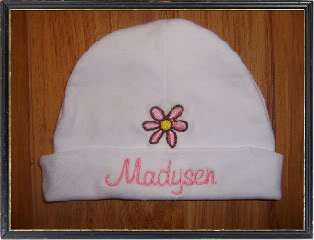 PERSONALIZED Pink/Blue Baby/Infant Beanie/Cap/Hat GIFT