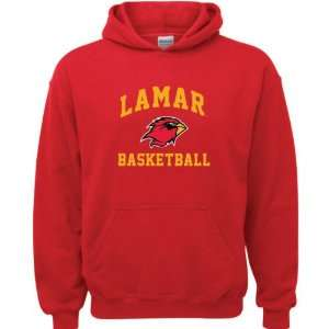 Lamar Cardinals Red Youth Basketball Arch Hooded