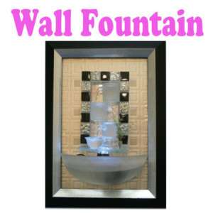 Indoor Wall Water Fountain In Picture Frame With LED