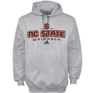 adidas North Carolina State Wolfpack Ash All Out Hoody Sweatshirt