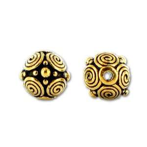 Antique Gold 8mm Spiral Bead Arts, Crafts & Sewing