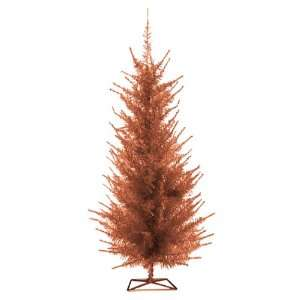 Christmas Lite Co. 6008 40cp 4 ft. Pre Lit Copper Vogue Tinsel Tree