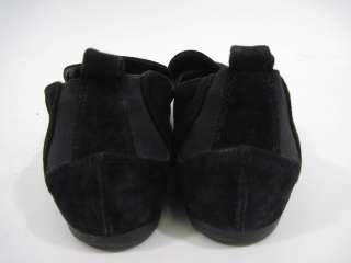 GIORGIO ARMANI Black Suede Loafers Shoes Slides Sz 36 6