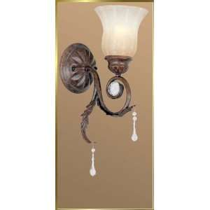 Wrought Iron Wall Sconce, JB 7060, 1 light, Weathered Bronze, 6 wide