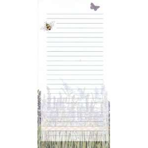 Magnetic Refrigerator Grocery List to Do Note Pad Herb Garden Lavender
