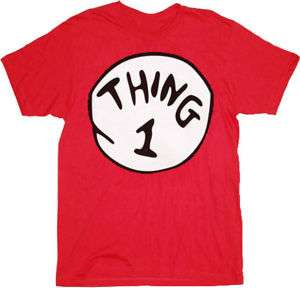 THING 1 2 3 4 5 6 DR SEUSS CAT IN THE HAT Halloween Funny Red Costume