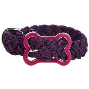 Mascot Sailors Knot Collar   X Large   Plum with Hot Pink