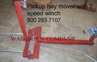Pickup truck economical HD winch hay bale spear unit w