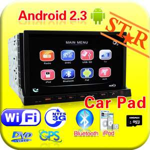 Android 2.3 HD 7 2 Din In Dash Car DVD Radio Stereo Player WiFi 3G