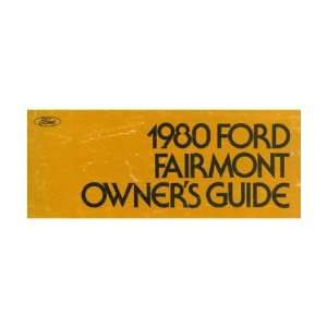1980 FORD FAIRMONT Owners Manual User Guide Automotive