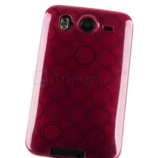 TPU Hard Silicone Case for HTC Desire HD Inspire 4G