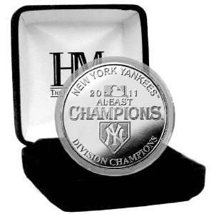 MLB New York Yankees 2011 American League East Division Champs Silver