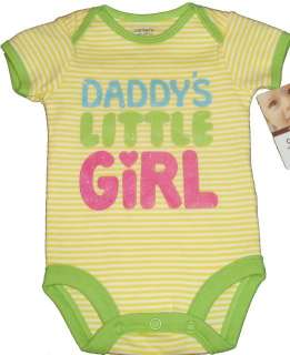 CUTE SAYING QUOTES BODYSUIT CARTERS BABY GIRLS BOYS ONESIE NB TO 18 MO