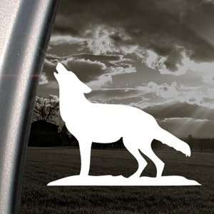 Howling Wolf Decal Car Truck Bumper Window Sticker