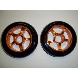 Metal Core Scooter Wheels 100mm BLACK and YELLOW Heavy Duty RAZOR Set