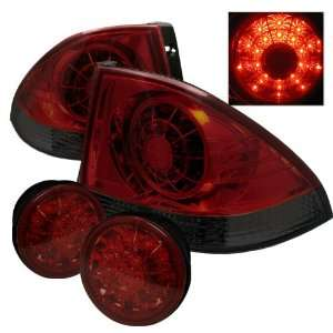 Lexus IS300 01 03 LED Altezza Tail Lights   Red Smoked