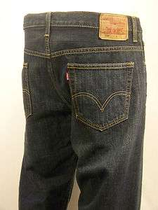 LEVIS JEANS 569 Loose Fit Straight Leg Dark Denim Mens Pants New With