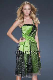 TWIRL THE NIGHT AWAY GREEN & BLACK BEADED COCKTAIL PARTY SHORT DRESS
