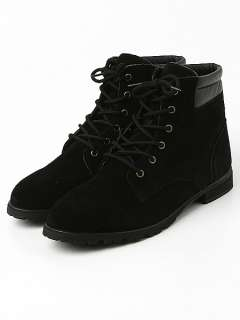 Mens shoes real Suede Lace up combat boots US 6.5 11.5