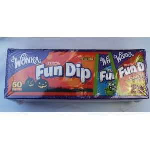 Wonka Halloween Fun Dip Candy (50 Pouches) Health