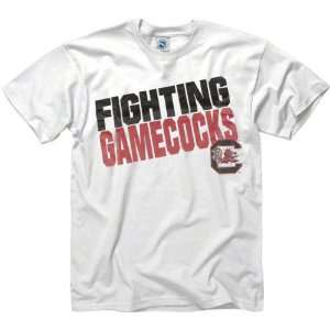 South Carolina Gamecocks White Slogan T Shirt Sports