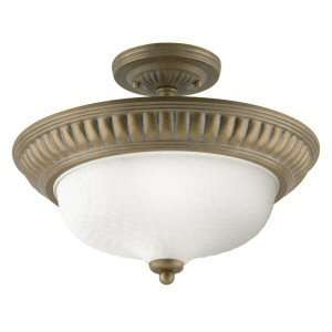 Westinghouse 64209   1 Light Cozumel Gold Ceiling Semi Flush Mount
