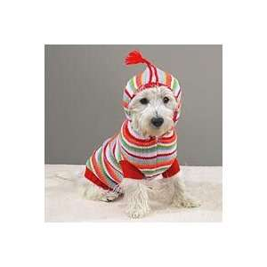 Casual Canine Striped Hoodie Sweater Lrg