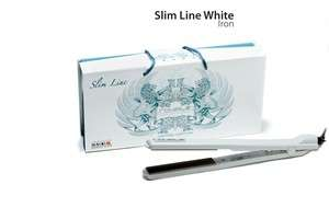 Royale Hair Straightener Slim Line White with 3 Gifts Hair Designer
